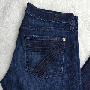 "7 for All Mankind Dojo Wide Leg Jeans Size 26x32"""